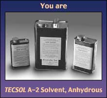 TECSOL A-2 Solvent, Anhydrous